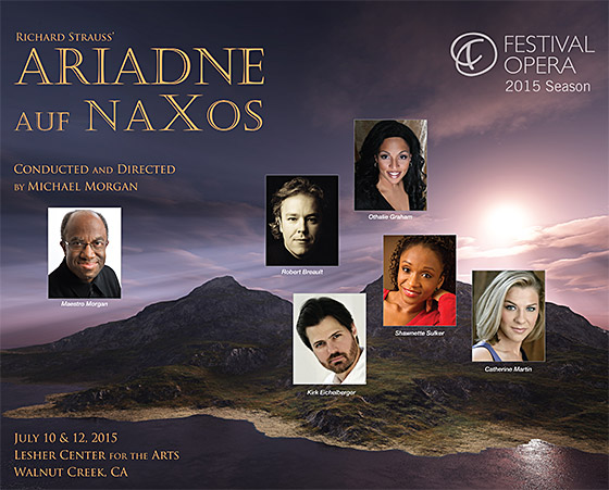 Festival Opera's production of Ariadne Auf Naxos with Robert Breault and Othalie Graham